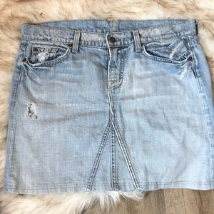 7 for all mankind jean skirt . Distressed . NWOT
